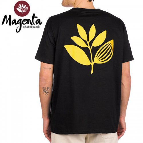 【MAGENTA マゼンタ Tシャツ】PLANT PRICE POINT TEE 【ブラック×ゴールド】 NO11