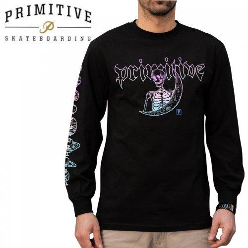 【PRIMITIVE プリミティブ スケボー ロング Tシャツ】SIGNS L/S TEE【ブラック】NO33