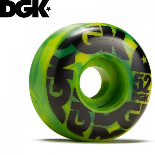 【DGK ディージーケー スケボー ウィール】SWIRL FORMULA WHEELS 101A グリーン【52mm】NO8