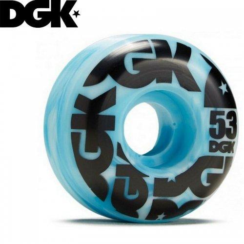 【DGK ディージーケー スケボー ウィール】SWIRL FORMULA WHEELS 101A ブルー【53mm】NO9