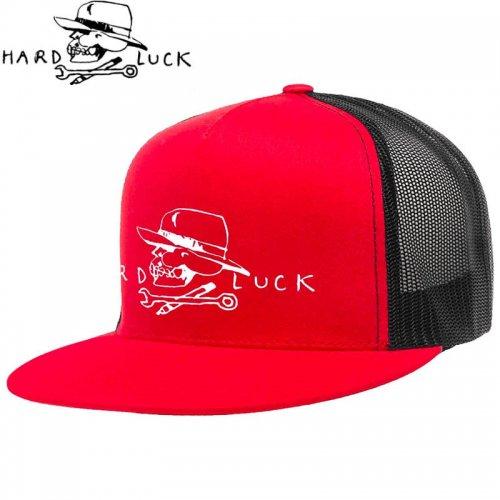 【HARD LACK ハードラック スケボー キャップ】SKULL TRUCKER SNAPBACK HAT レッド×ブラック NO4