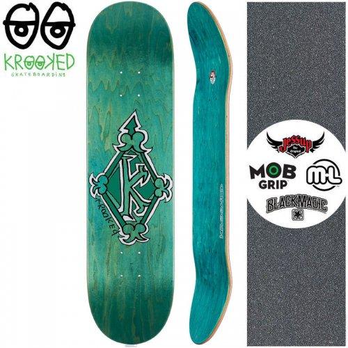 【クルックド KROOKED スケートボード デッキ】REGAL TM GREEN DECK【8.25インチ】ビリジアン NO135
