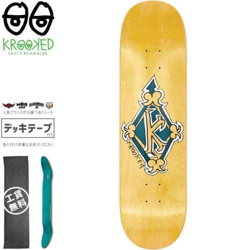 【クルックド KROOKED スケートボード デッキ】REGAL TM GREEN DECK【8.25インチ】イエロー NO137