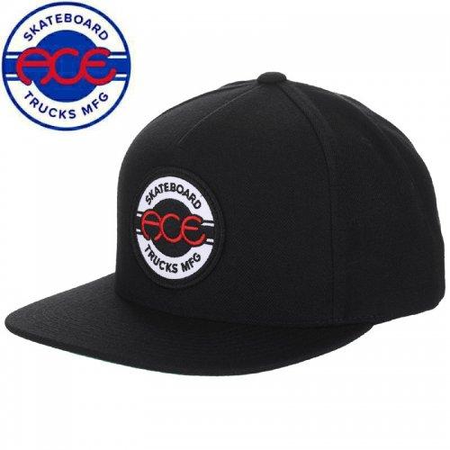 【ACE TRUCK エース スケボー キャップ】SEAL 5 PANEL SNAPBACK HAT ブラック NO1