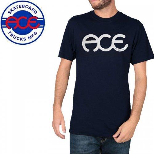 【ACE TRUCKS エース スケボー Tシャツ】RINGS TEE【ネイビーブルー】NO6