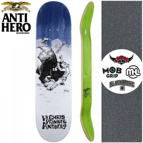 【ANTI HERO アンタイヒーロー スケートボード デッキ】PFANNER WEST WASN'T DECK【8.06インチ】ブルー NO150
