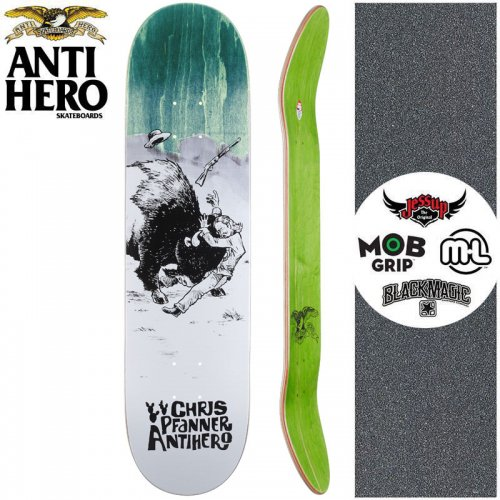 【ANTI HERO アンタイヒーロー スケートボード デッキ】PFANNER WEST WASN'T DECK【8.06インチ】ターコイズ NO152