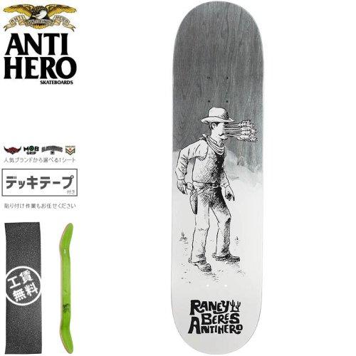 【ANTI HERO アンタイヒーロー スケートボード デッキ】BERES WEST WASN'T DECK【8.25インチ】ブラック NO153