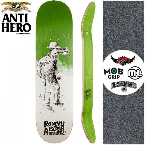 【ANTI HERO アンタイヒーロー スケートボード デッキ】BERES WEST WASN'T DECK【8.25インチ】グリーン NO155