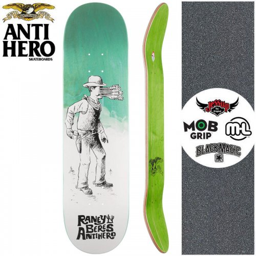 【ANTI HERO アンタイヒーロー スケートボード デッキ】BERES WEST WASN'T DECK【8.25インチ】ミント NO156