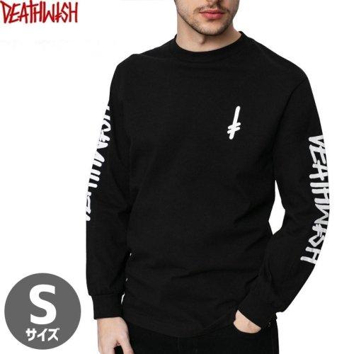 【デスウィッシュ DEATHWISH スケボー ロングTシャツ】LANDMARK LONGSLEEVE TEE【ブラック×ホワイト】NO5
