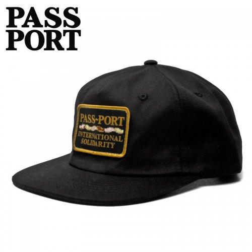【PASS~PORT パスポート スケボー キャップ】INTERSOLID PATCH 5PANEL CAP ブラック NO13