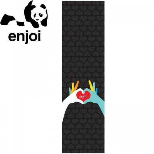 【ENJOI エンジョイ スケボー デッキテープ】HEART HANDS GRIPTAPE 9 x 33 NO17
