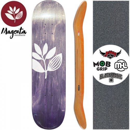 【マゼンタ MAGENTA スケートボード デッキ】TEAM WOOD STAIN DECK【7.75インチ】パープル NO88
