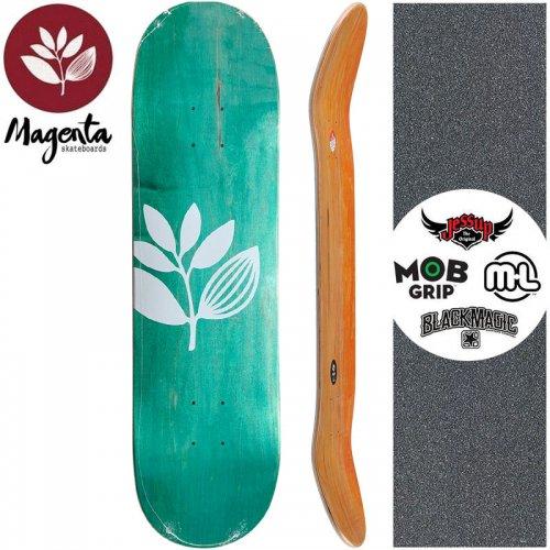 【マゼンタ MAGENTA スケートボード デッキ】TEAM WOOD STAIN DECK【7.75インチ】【8.0インチ】ターコイズグリーン NO89