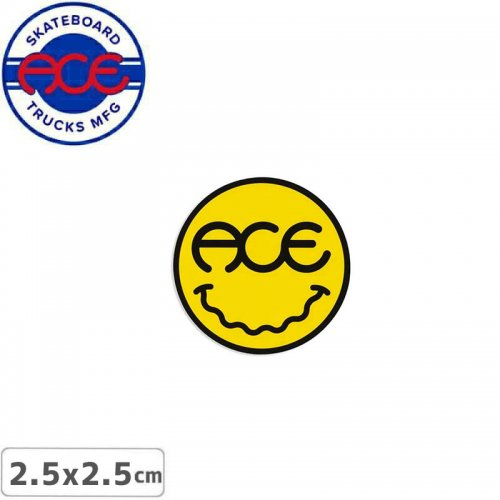 【ACE TRUCKS エース スケボー ステッカー】FEELZ STICKER イエロー 2.5cm NO24
