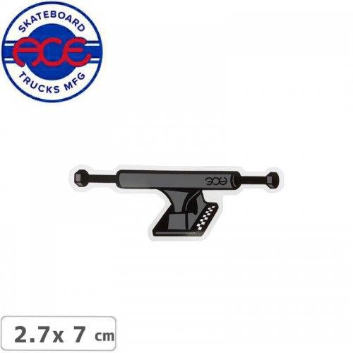 【ACE TRUCKS エース スケボー ステッカー】TRUCK STICKER グレー 2.7cm×7cm NO25