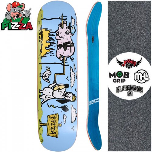 【PIZZA SKATEBOARDS ピザ スケートボード デッキ】BBQ PIZZA DECK【8.37インチ】NO28
