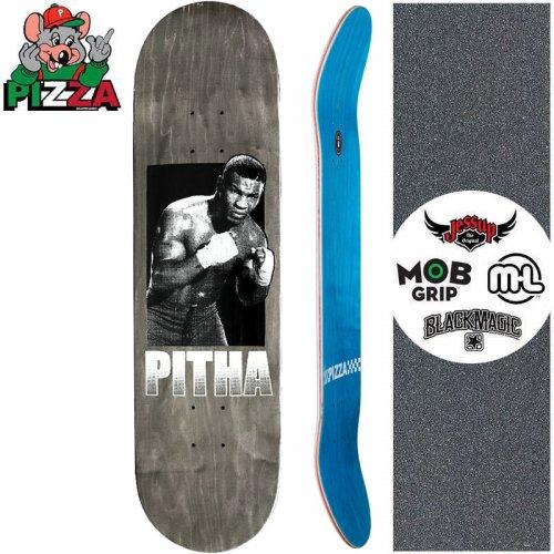【PIZZA SKATEBOARDS ピザ スケートボード デッキ】PITHA DECK【8.25インチ】ブラック NO31