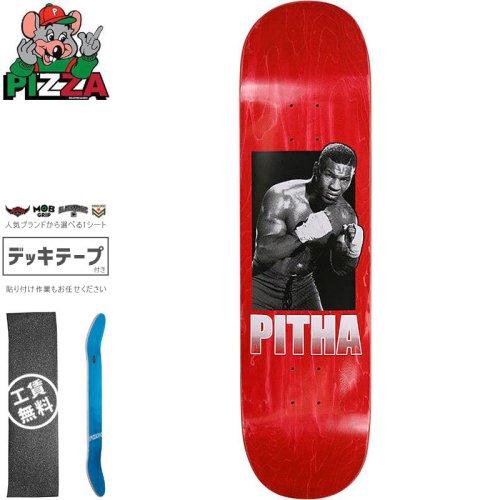 【PIZZA SKATEBOARDS ピザ スケートボード デッキ】PITHA DECK【8.25インチ】レッド NO33
