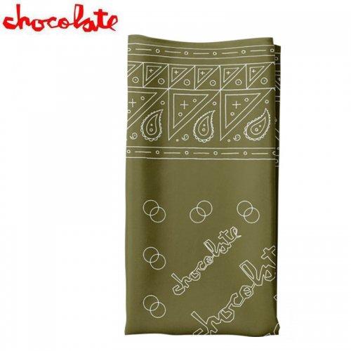 【CHOCOLATE チョコレート 小物 バンダナ】BANDANA ミリタリーグリーン NO2