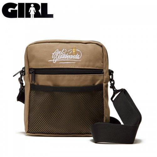 【GIRL ガールスケートボード スケボー ショルダーバッグ】TRAVELER SHOULDER BAG ブラウン×ブラック NO17