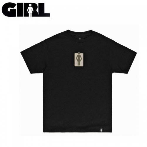 【GIRL ガールスケートボード キッズ Tシャツ】UNBOXED YOUTH TEE【ブラック】NO4