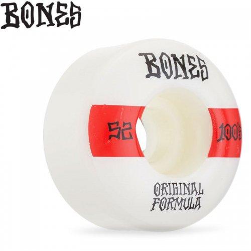 【ボーンズ BONES スケボー ウィール】OG FORMULA 100A #14 V4 WIDE WHEELS【52mm】NO246