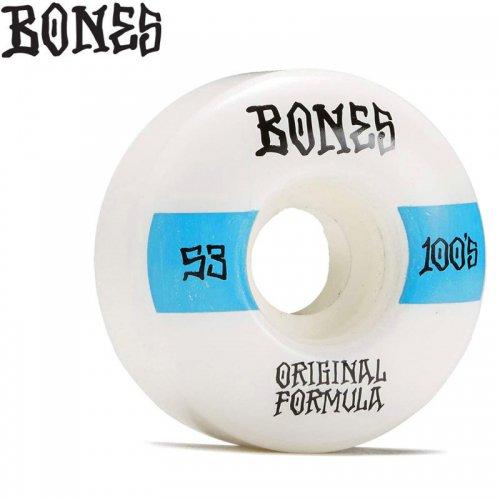 【ボーンズ BONES スケボー ウィール】OG FORMULA 100A #14 V4 WIDE WHEELS【53mm】NO247