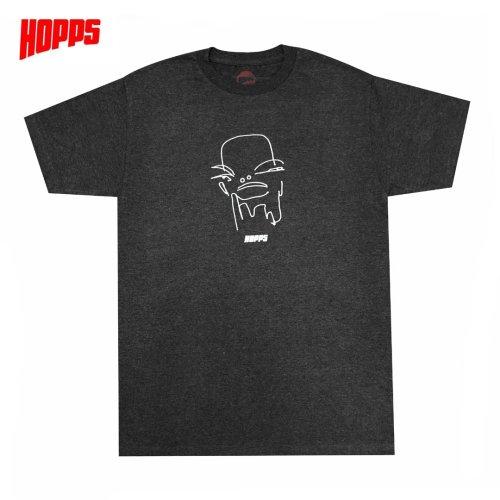 【HOPPS ホップス スケボー Tシャツ】HOPPS DREAMER TEE【チャコールヘザー】NO4