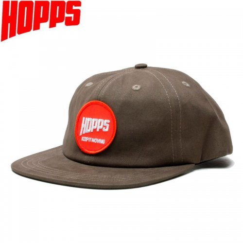 【HOPPS ホップス スケートボード キャップ】SUN LOGO PATCH SNAPBACK CAP モカブラウン NO5