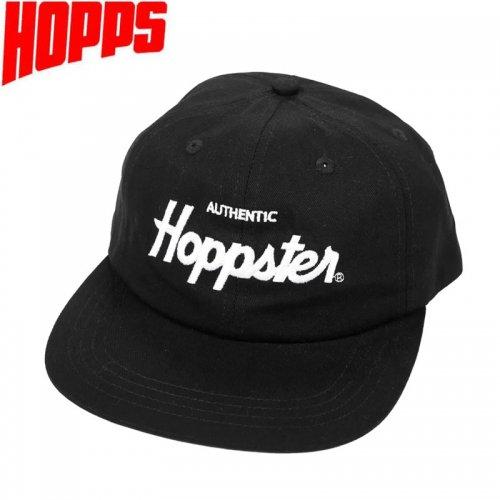 【HOPPS ホップス スケートボード キャップ】HOPPSTER SNAPBACK CAP ブラック NO6