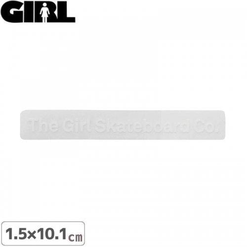 【GIRL ガールスケートボード STICKER ステッカー】LOGO STICKER ホワイト 1.5cm x 10.1cm NO164