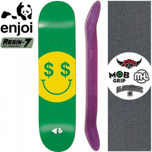 【エンジョイ ENJOI スケボー デッキ】CASH MONEY R7 DECK【8.2インチ】NO125