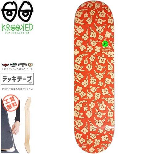 【クルックド KROOKED スケートボード デッキ】FLOWERS DECK【8.06インチ】NO144