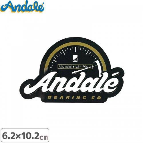 【アンデール ANDAL スケボー ステッカー】ALWAYS FAST STICKER ブラック 6.2cm x 10.2m NO5