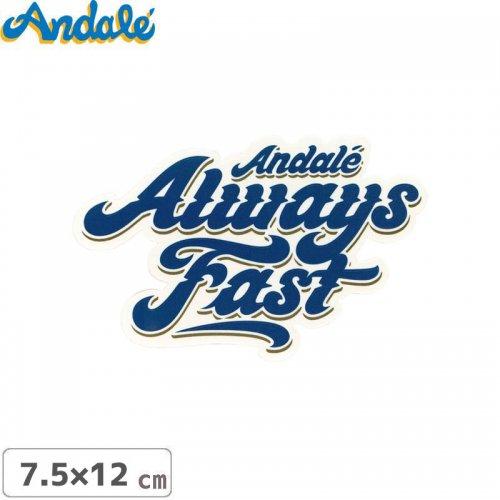 【アンデール ANDAL スケボー ステッカー】ALWAYS FAST LOGO STICKER ブルー 7.5cm x 12m NO6