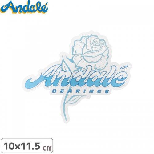【アンデール ANDAL スケボー ステッカー】FLOWER LOGO STICKER ブルー 10cm x 11.5m NO8