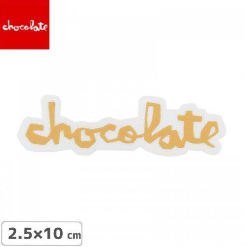 【CHOCOLATE チョコレートステッカー スケボー 】LOGO STICKER ベージュ 2.5cm x 10cm NO22