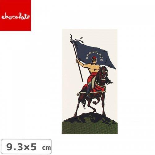 【CHOCOLATE チョコレートステッカー スケボー 】LOGO STICKER ホワイト 9.3cm x 5cm NO25