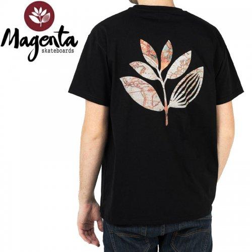 【MAGENTA マゼンタ Tシャツ】PLANT MAP TEE 【ブラック】 NO12