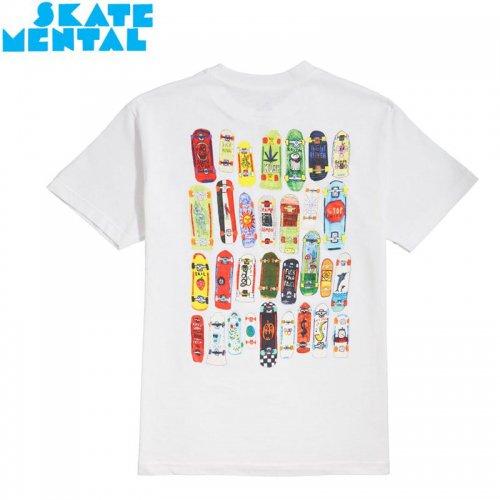 【SKATE MENTAL スケートメンタル スケボー Tシャツ】MINI BOARDS TEE【ホワイト】NO12