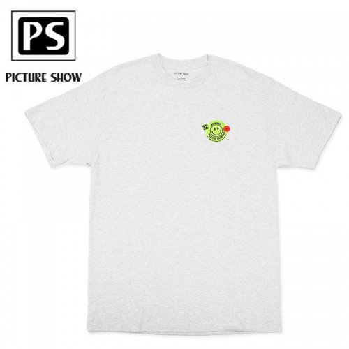 【PICTURE SHOW ピクチャーショー スケートボード Tシャツ】BE KIND TEE【アッシュグレー】NO1