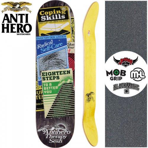 【ANTI HERO アンタイヒーロー スケートボード デッキ】VAN DER LINDEN THERAPY SESH DECK【8.12インチ】ブラック NO157
