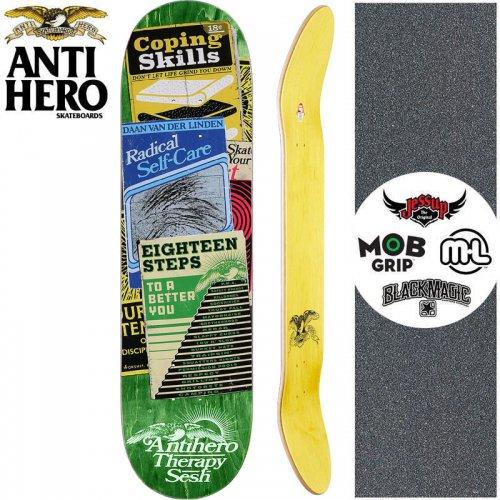 【ANTI HERO アンタイヒーロー スケートボード デッキ】VAN DER LINDEN THERAPY SESH DECK【8.12インチ】グリーン NO158