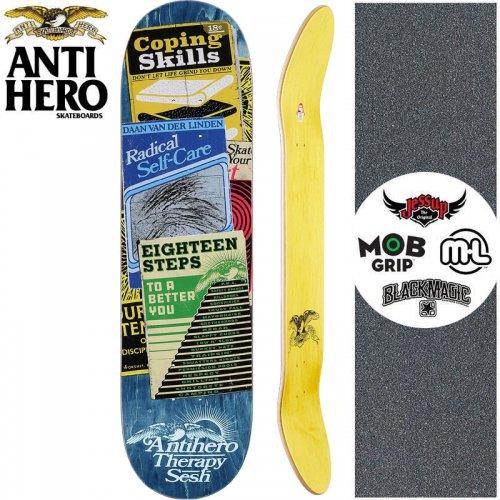 【ANTI HERO アンタイヒーロー スケートボード デッキ】VAN DER LINDEN THERAPY SESH DECK【8.12インチ】ブルー NO160