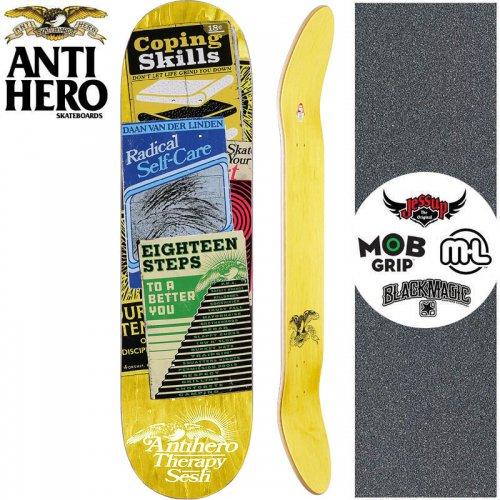 【ANTI HERO アンタイヒーロー スケートボード デッキ】VAN DER LINDEN THERAPY SESH DECK【8.12インチ】イエロー NO161