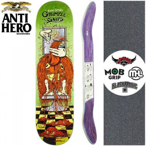 【ANTI HERO アンタイヒーロー スケートボード デッキ】GRIMPLE STIX SMITH GRIMPLE SNIPS DECK【8.25インチ】グリーン NO162