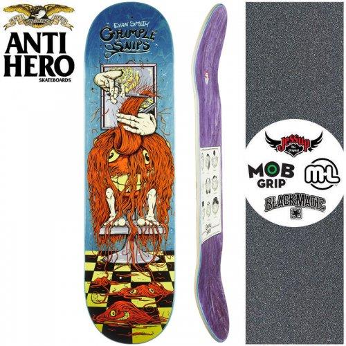 【ANTI HERO アンタイヒーロー スケートボード デッキ】GRIMPLE STIX SMITH GRIMPLE SNIPS DECK【8.25インチ】ブルー NO163