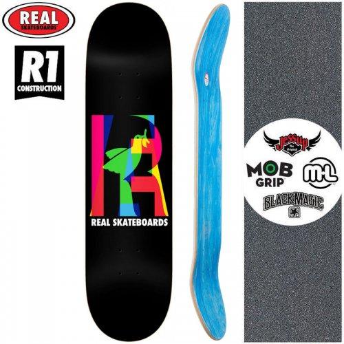 【リアル REAL スケートボード デッキ】ELIPSING BLACK R1 DECK【8.06インチ】NO189